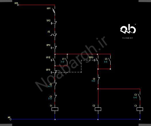 مدار فرمان و قدرت برای الکتروموتور های دو سرعته دالاندر