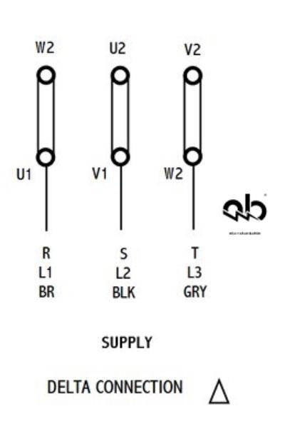 راه اندازی الکتروموتور به روش مثلث